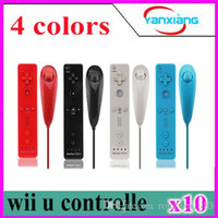 Wholesale Motion Controller Nintendo - 10pcs FastSnail Nunchuck Motion Plus and Remote Controller Set for Nintendo Wii & Wii U & Mini Wii with Silicon Case Pink YX-ZY-01