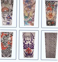 Großhandels-Farbe Random-Mann-Mode-Sommer-Art temporäre gefälschte Slip On Tattoo Arm Sleeves Kit Colle Fake Tattoo Ärmel