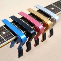 Wholesale Electric Acoustic Violin - Electric Acoustic Guitar Capo Tone Bass Violin Ukulele Capo Tone Adjusting Clamp Trigger guitar Accessories