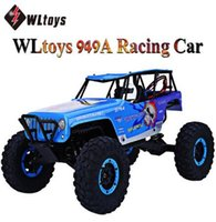 Atacado- RC Car WLtoys 10428A 2.4G 1:10 Escala 540 Motor Escovado Controle Remoto Electric Wild Track Warrior mi Car Toys Wltoys 10428-A