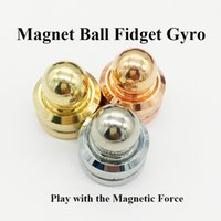 Wholesale Magnetic Gyro - Magnet Ball Fidget Spinner Magnetic Orbiter Gyro With Retail Box Colorful Hand Spinner Play with the Magnetic Force Decompression Toys