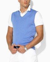 Wholesale Men S Casual Cotton Vests - Hot Sale new autumn and winter fashion sweater vest, men's V-neck sweater vest
