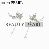 Bulk of 3 Pairs Meteor Thread 925 Sterling Silver Zircon Star Earrings Blank Base Jewellery Findings
