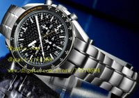 Wholesale Solar Mens Watches - Mens Luxury Professional Solar Impulse stainless steel Automatic Mechanical Watch Men's Watches Black dial