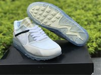Wholesale New Arrival For Winter Man - Top New Arrival Off White x Airs 90 Ice 10X AA7293-100 Sports Running Shoes for Men Casual Sneakers Size With Box