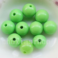 Cor sortida Solid Opaque Round Smooth Acrilico Spacer Loose Beads Charm 14mm