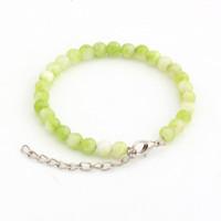 Wholesale Men Bracelet Jade - Hot ! 20pcs New men and women fashions Green Chic Persia Jade Beaded Bracelet