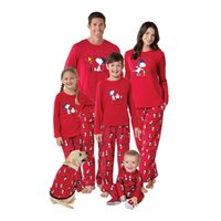 Wholesale Mother Son Clothes - Christmas Pajamas Family Clothing 2017 Family Matching Mother Daughter Father Son Clothes Family Clothing Sets Sleepwear new