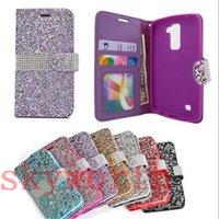Wholesale Diamond Crystal Case For Lg - Wallet Flip Bling Diamond Crystal Leather Case for Iphone 6 6S Plus LG K7 G Stylo Samsung Galaxy S6 S7 Edge Card Slot