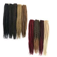 Wholesale crochet box braids hair online - 3X Synthetic Braiding hair Crochet box braids twist inch g Kanekalon synthetic hair extensions hot sale