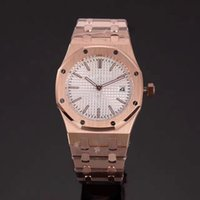Wholesale Dresses Woman Rose - factory 4 styles Luxury Brand watches women white dial Royal Oak rose gold lady Watches quartz watch women dress WristWatches