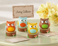 Wholesale owl pictures for sale - Group buy 200pcs Creative Owl Wedding Gift Wedding Seats Clip Creative Name card note picture memo photo clip Holder
