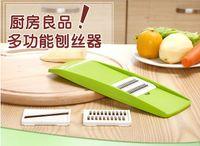 Wholesale kitchen tools resale online - Environmental Multifunctional shredder plastic vegetable cutter Grater Peeler Julienne Slicer Device Stainless Steel Blades Kitchen Tools