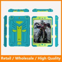 Wholesale Cool Apple Skins - Cool Autobots Silicone+Plastic Tablet PC with Kickstand Holder Case for iPad 234 iPad Mini 234 iPad Air 12 iPad Pro Shockproof Case
