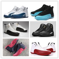 Vente en gros 2017 hot cheap air Retro XII Octobre OVO Hommes Basketball Chaussures Or Blanc Hommes noir ovo Sneakers Us Taille 8-13