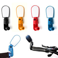 Wholesale Small Adjustable Mirrors - Adjustable MTB Bike Bicycle Cycling Rearview Mirror Glass Mini Small Iron Handlebar Bar Yellow Black Red Blue