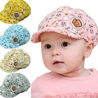 Wholesale Baby Baseball Hat Beret - 3-24 Months Baby Girls Fashion Beret Hats Child Baseball Caps Kid Peaked Hats Infant lovely Cricket-Cap a217