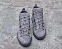 Wholesale Big Savings - Brand Quality Gray matte cashmere Comfortable High Top Sneakers Fashion and Streetwear Arena Shoes Big Saving Up Casual mens shoes 36-46