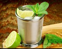 Wholesale Martini Cups - DHL & SF_express Mint Julep Cup Stainless Steel Cocktail Moscow Mule Mug Mixed Drinks Cup Martini Bar Party Beer Cup Mugs