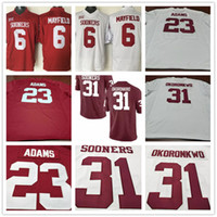 Wholesale Size 31 - Oklahoma Sooners College Football 6 Baker Mayfield 23 Abdul Adams 31 Ogbonnia Okoronkwo Red White Stitched Mens Jerseys size S-3XL