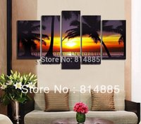 Wholesale Tree Artist Oil Paintings - 170-180cm Width ,From Artist Directly !! The Palm Tree !!! 100% Handmade Modern Landscape Oil Painting On Canvas ! JYJHS069