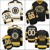 Wholesale hockey jerseys sizes - Customized Boston Bruins Jerseys Custom Any Name Any Number Authentic Ice Hockey Jerseys Stitched Personalized Jersey Size S-3XL