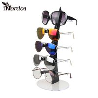 Wholesale racks glass - 2017 New 5 Layers Eyeglasses Sunglasses Glasses Display Stand Rack Holder Shelf Mordoa Black Transparent