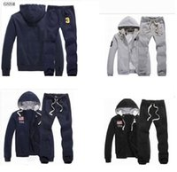 Wholesale Reversible Fleece - Wholesale-Free Shipping! New Fashion clot brand Mens Sport Sets Sweat Suits brand hoodies Hoodies Sweatshirts and Pants