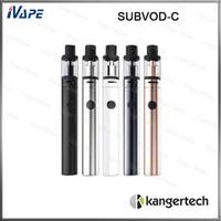 nano e cig großhandel-100% Original Kanger SUBVOD-C Starter-Kit 1300mah 2.8ml Nano-C-Zerstäuberoberfüllung mit Kangertech Subvod-Batterie E-Cig-Kit