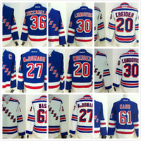 Wholesale Green Ranger Spandex - Stitched NHL NY RANGERS #1 GIACOMIN 2 LEETCH 3 PATRICK 4 GRESCHNER White Blue Throwback Hockey Jerseys Ice Jersey do Drop Shipping
