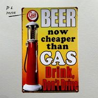DL-Beer ora più economico di Gas Drink non guidi wall placca Vintage home Decor garage art poster