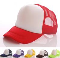 Wholesale Wholesale Personalized Baseball Hats - Desinger Plain Trucker Caps Custom Printing Logo Blank Baseball Mesh Hats Adjustable Snapbacks Personalized Gorras For Adults Mens Womens