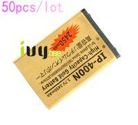 Wholesale Lg Optimus S - 50pcs lot 2450mAh IP-400N Gold Replacement Battery for LG Optimus T M S VS660 P509 MS690 LS670 Vorter U9400 GT540 LW690 GX200 GM750 Batterie