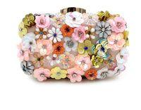 Wholesale Clutch Metal Frames - Vintage Wedding Bridal Handbag Flower Evening Clutch Bag Metal Hard Box Princess Purse Wallet Shoulder Chain Cocktail Bag Makeup Kit Box