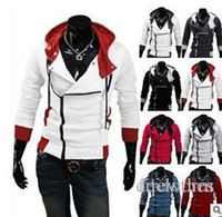 Assassins Creed Wintermantel Kaufen -Hot-Produkte Herbst und Winter arbeiten Full Zip Assassins Creed Hoodie Fleece Top-Qualität Cardigan Sweatshirt Männer beiläufige Mäntel