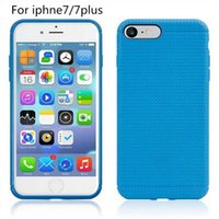 Wholesale Iphone Cover Square Silicone - For iphone7 7 plus Soft TPU Slim Case Dot Mesh Network Square Cover for iphone5S iphone6 6plus Samsung S7 S6 S7 edge LG G4 3 2