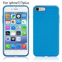 ingrosso copertine di iphone5s-Per iphone7 7 plus Custodia morbida TPU Slim Case rete a maglie quadrate per iphone5S iphone6 6plus Samsung S7 S6 bordo S7 LG G4 3 2