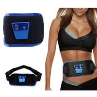 Wholesale Slimming Leg Belt - 2016 Healthy & Beauty AB Massage Belt Slim Fit Gymnic Front Muscle Arm leg Waist AbdominalToning health care body massager