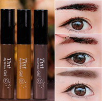 Eyebrow Enhancers Tint My Brow Gel Marke Peel Off Augenbraue Creme Auge Tattos Make-up 3Colors Dark Brown / Hellbraun / Grau DHL Kostenloser Versand