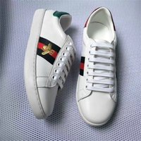 Wholesale Shoes Pink Flowers - Newest White Leather Flats sneakers Italy GG men women Classic Casual Shoes python tiger bee Flower Embroidered Cock Love sneakers SZ 36-44