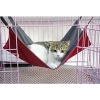 Wholesale Black Cat House - Freeshipping Pet Hammock Summer   Winter Waterproof Cat Hammock Soft Cat Bed Small Animal Pet Products Rest Cat House Mat S