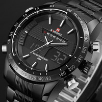 Wholesale Men S Analog Wrist Watches - 2017 New Fashion Men Watches Luxury Brand Men 'S Quartz Analog Led Clock Man Sports Army Military Wrist Watch Relogio Masculino