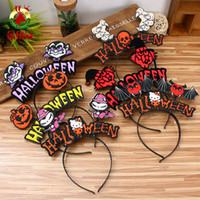 Divertente Hallowmas Party Fasce di capelli Bambini Adulti Adkinable Batchie Bat Witch Vampire Fasce Cute Halloween Props Decorazioni Party