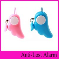 Wholesale Anti Wolf Alarm - Women self-defense anti-wolf angel wings gift for girlfriend emergency alarm Blesi self protection alarm guardian angel home alarm 120DB