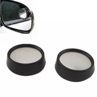 Wholesale wide angle side view mirror - Car mirror new Driver 2 Side Wide Angle Round Convex Blind Spot mirror for Car Rear view mirror Rain Shade