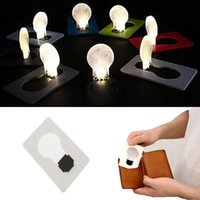 Wholesale Mini Pocket Led Light - Mini Pocket Lamp Portable Mini LED Foldable Card Light Pocket Lamp Put In Purse Wallet Flod Emergency Originality Slim Convenient Outdoor