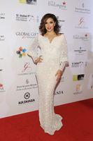 Wholesale Eva Longoria Dresses - 2016 Eva Longoria Celebrity Dresses Sweetaeart Long Sleeves Beaded Appliques 12th Annual Dubai International Film Festival