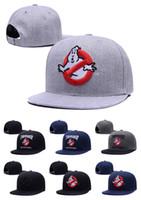Cheap mens snap back caps - 2016 New Arrival Ghostbusters Snapbck Snapbacks Hats Womens Mens Flat Caps Hip Hop Snap Backs Cap Free shipping