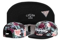 Wholesale Cheap Snapbacks Flower Hats - 2016 Cheap Cayler & Sons snapbacks Flowers Paris snap back caps hiphop hats sport caps For man and woman