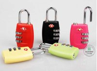 Wholesale Custom Suitcases - DHL Free TSA lock Customs Luggage Padlock TSA338 Resettable 3 Digit Combination Padlock Suitcase Travel Lock